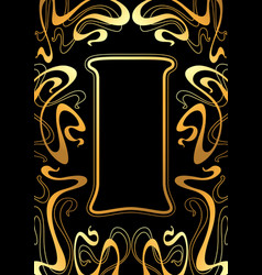 frame with art nouveau ornament vector image