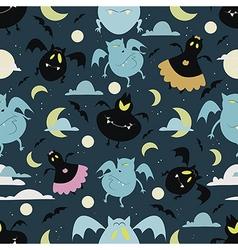 Halloween bat pattern 01 vector