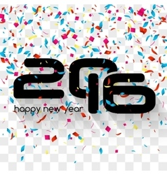 Happy New Year 2016 Creative Colorful Glitter vector image