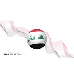 Iraq round flag design vector