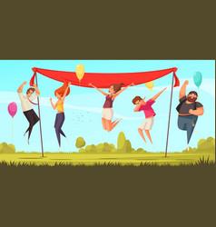 joyful people background vector image