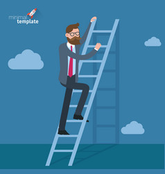ladders to the clouds template vector image