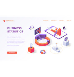 landing page for business statistics vector image