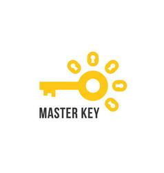 master key icon isolated on white vector image