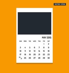 May 2015 calendar vector image