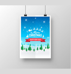Merry christmas cover art vector