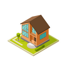 modern architecture city house family vector image