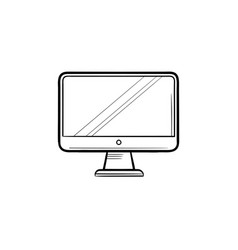 monitor hand drawn outline doodle icon vector image