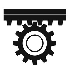 One gear icon simple style vector