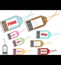 price tag selection vector image