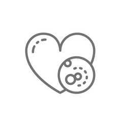 Problems with heart thrombus line icon vector