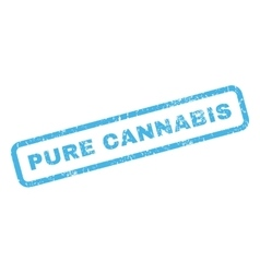 Pure Cannabis Rubber Stamp vector