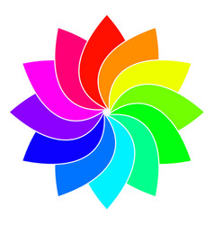 rainbow spectrum color wheel children wind vane vector image