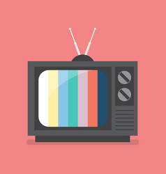 Retro television with color frame vector