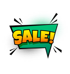 sale background in comic chat bubble style vector image