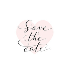 save date card wedding invitation template vector image