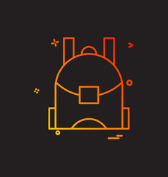 school bag icon design vector image