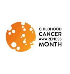 september is national childhood cancer awareness vector image