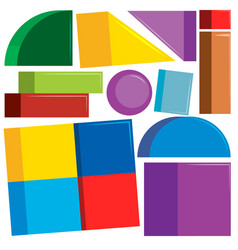 set of colorful shapes vector image