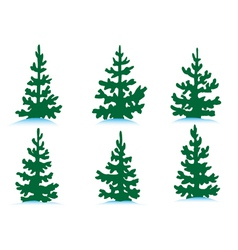 Set of firs vector image