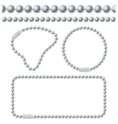 silver chain ball links set vector image