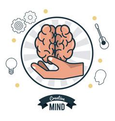 smart brain ideas vector image