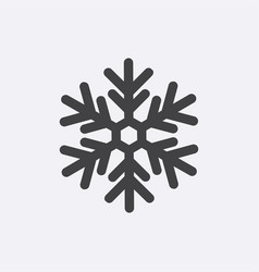 snow gray icon isolated on background modern flat vector image