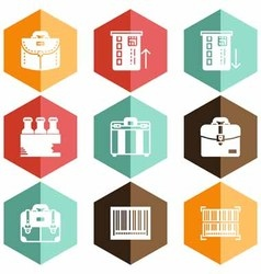 Solid icons market vector
