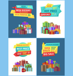 Special promotion and offer vector