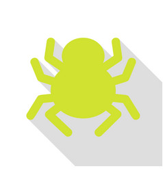 spider sign pear icon with flat vector image
