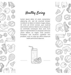 sport and diet banner template with place for text vector image