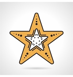 Starfish flat style icon vector image