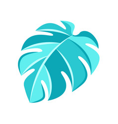 Stylized monstera leaf vector