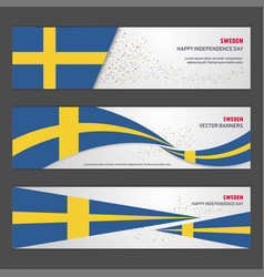 Sweden independence day abstract background vector