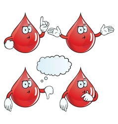 Thinking blood drop set vector
