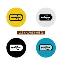 USB charge symbol vector image