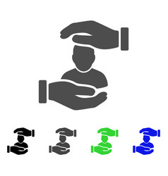 user care hands flat icon vector image