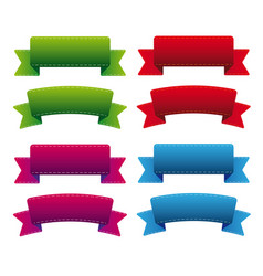 Various ribbon set vector