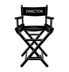 Vintage monochrome movie director chair concept vector