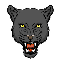 panther head vector image