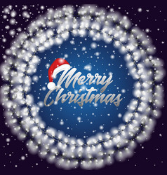 poster with merry christmas text vector image
