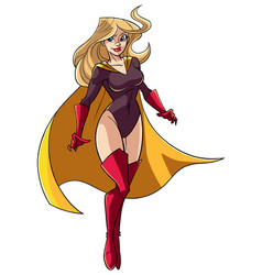 superheroine flying 5 vector image vector image