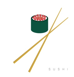 sushi food icon vector image