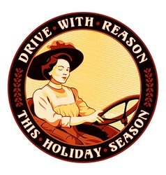 Drive with reason vector image