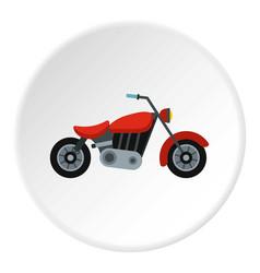 motorcycle icon circle vector image