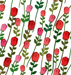 Roses seamless pattern Rose with a long stem and vector image vector image