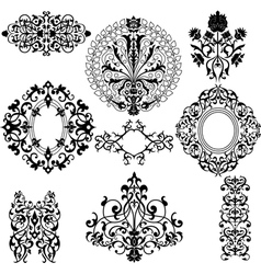 Set of decorative floral patterns vector image vector image