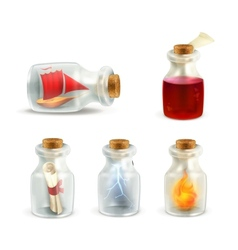 Set of jars vector image vector image