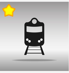 train black icon button logo symbol concept vector image