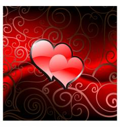 Valentine's hearts vector image vector image